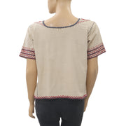Ulla Johnson Embroidered Blouse Top S