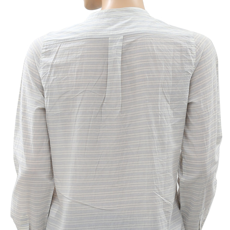 Nué Notes Striped Printed Buttoned Top S