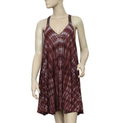Ecote Racerback Trapeze Tie Dye Mini Dress M