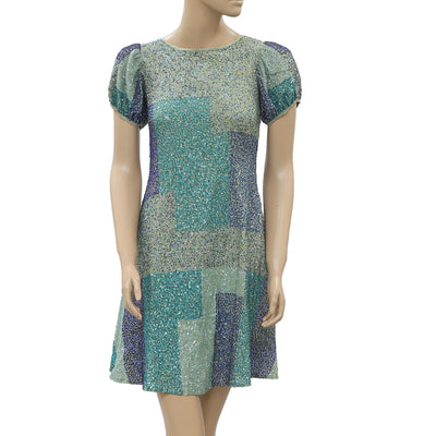 Varun Bahl Anthropologie Sequined Mini Dress XXS