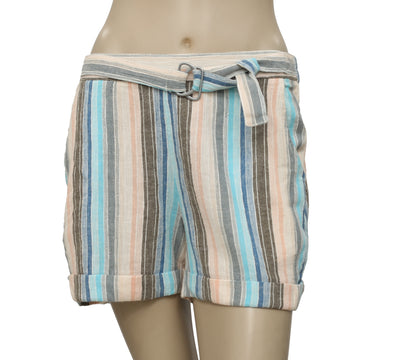 Free People Smocked Striped Printed Pocket Shorts S