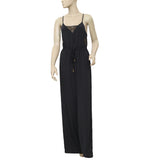 Saivana Anthropologie Black Cutout Jumpsuit Dress XS