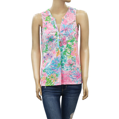 Lilly Pulitzer Essie Blouse Tank Top S