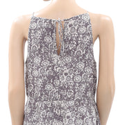 Forever 21 Printed Embroidered Tunic Top S