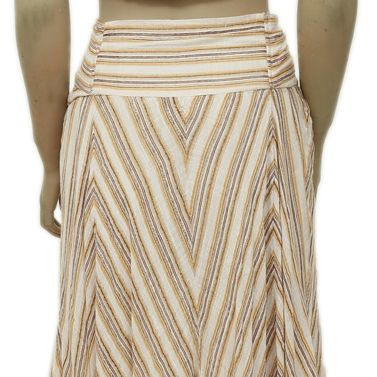 Free People FP One Giselle Striped Smocked Maxi Skirt