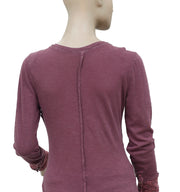 Free People Trustline Henley Purple Top S