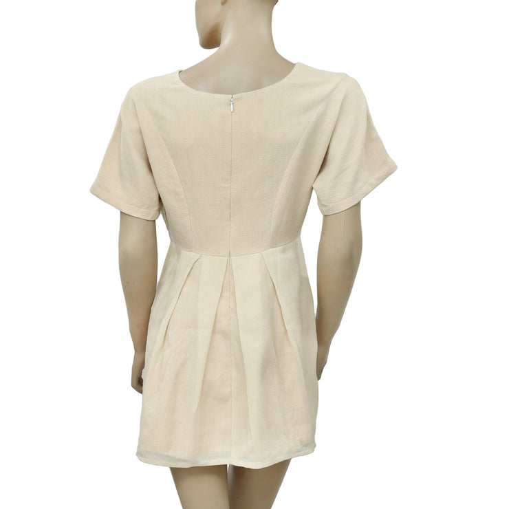 IRO Pleated Kimono Beige Tunic Dress XS