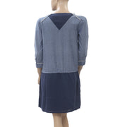 Joe Retro Quarter Blue Cotton Dress S