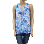 Lilly Pulitzer Essie Blouse Top M