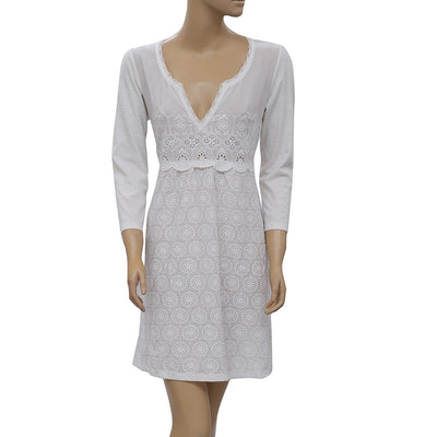 Odd Molly Anthropologie Eyelet Embroidered Mini Dress M 2
