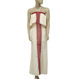 Free People Marrakech Embroidered Tube Maxi Dress S