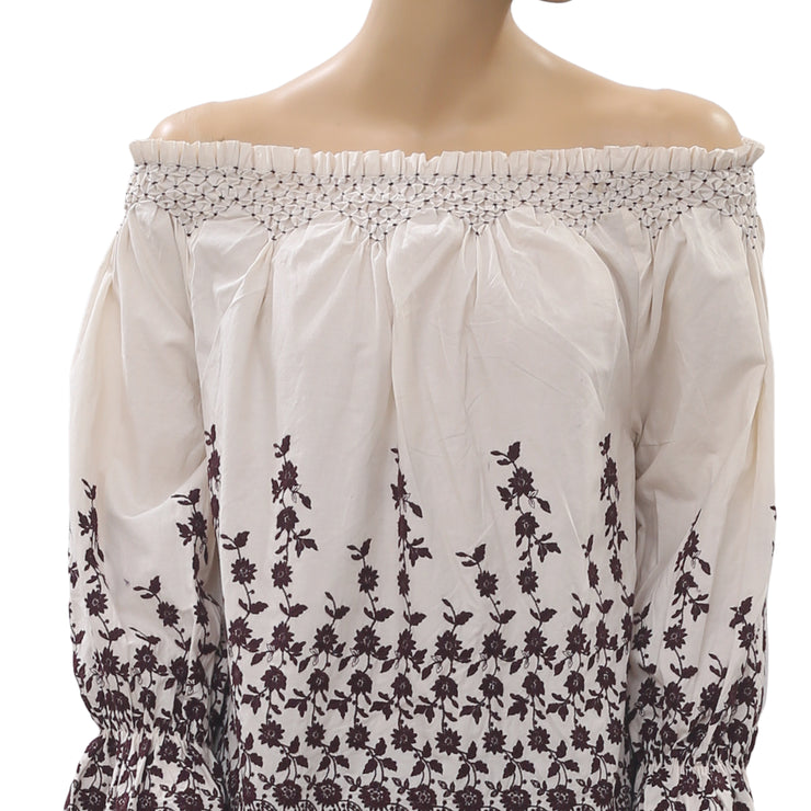 Ulla Johnson Marya Embroidered Blouse Top S