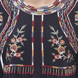 Hoss Intropia Anthropologie Embroidered Blouse Top Beaded Black M NWT