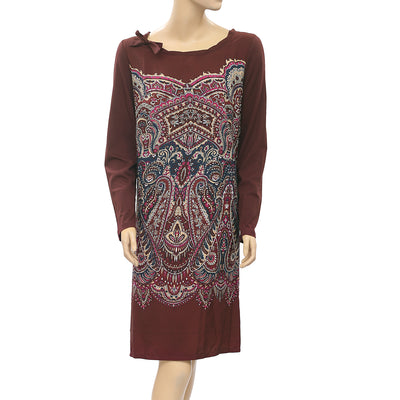 Taillissime La Redoute Paisley Printed Tie Brown Dress XL-16