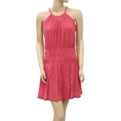 IRO Embroidered Ruched Mini Dress S-36 New