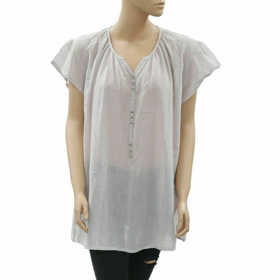 "Lolly""s Laundry Solid Cotton Tunic Top L"