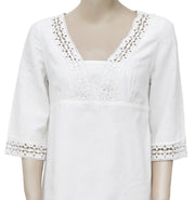 Lilly Pulitzer Crochet Lace V Neck Ivory Mini Dress S 6