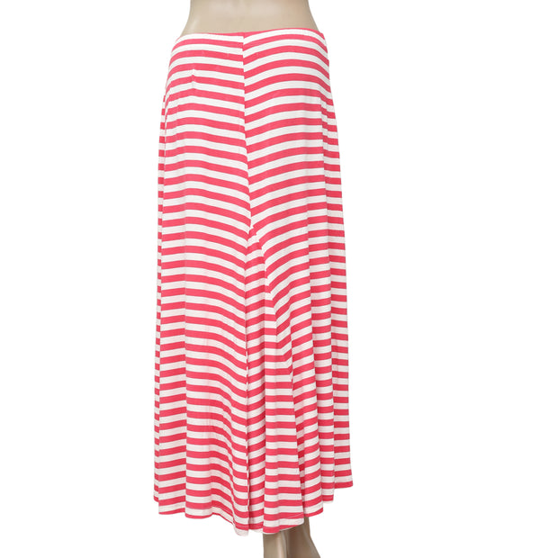April Cornell Striped Printed Pink Maxi Skirt S