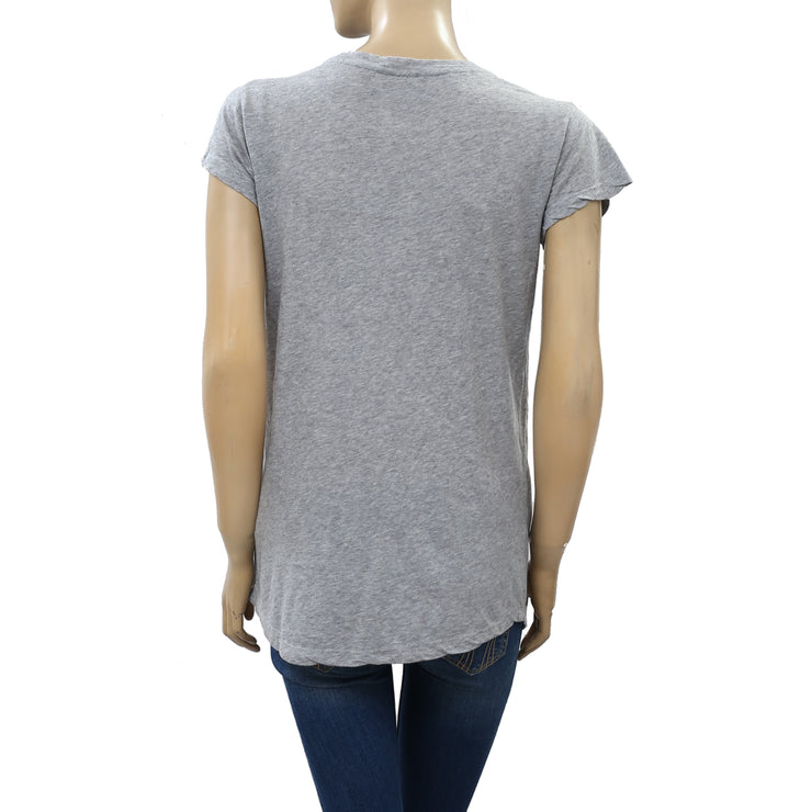 Zadig & Voltaire Skinny Love Printed T-Shirt Top S