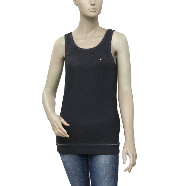 Free People Metal Embellished Sleeveless Tunic Top XS