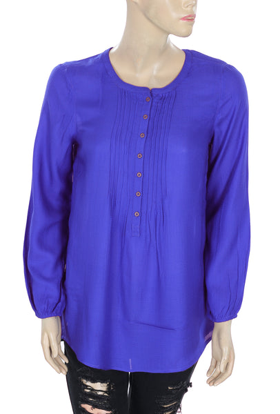 Lucky Brand Long Sleeve Tunic Top Small S