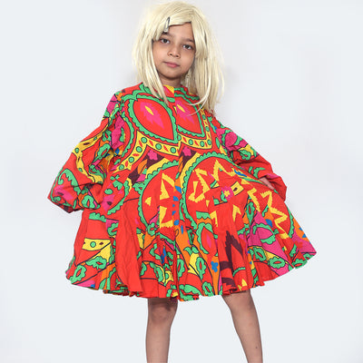 Rhode Resort Kids Girl Printed Flared Mini Dress 6 years
