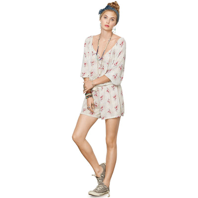 Denim & Supply Ralph Lauren Paisley Printed Romper Dress