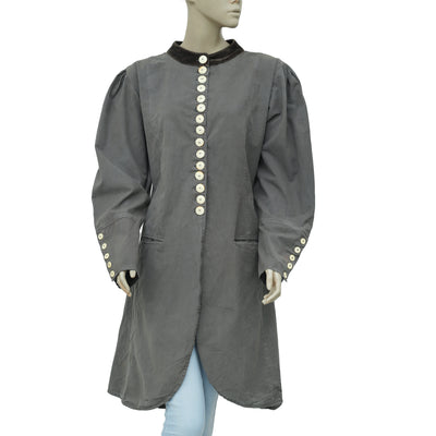 Ewa I Walla Peasant Lagenloo Vintage Buttondown Coat Jacket Dress XL
