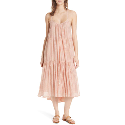 Ulla Johnson Samara Metallic Striped Midi Dress  S