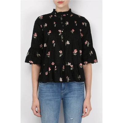Ulla Johnson Floral Charlotte Blouse Top S 6