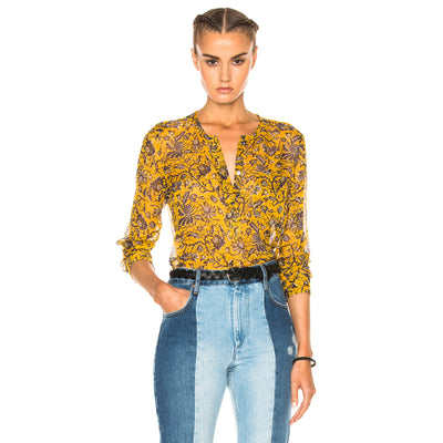 Etoile Isabel Marant Boden Printed Chiffon Silk Blouse Top M
