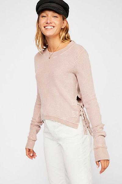 Free People FP One Cropped Interlaken Thermal Top M