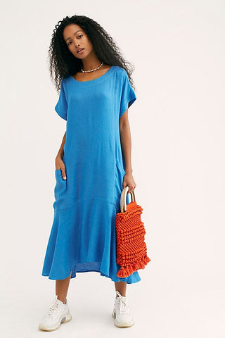 Free People Crisp And Cool Oversized Midi Dress M