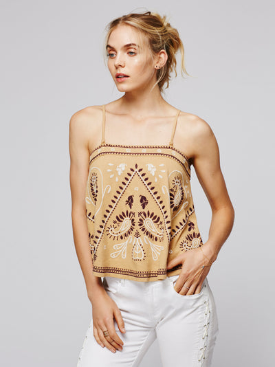 Free People Flirt Alert Embroidered Tube Top S