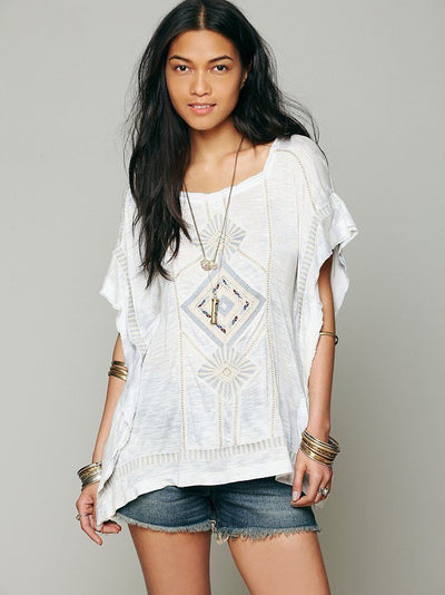 Free People Kalifas Kaftan Top Tie Dye S