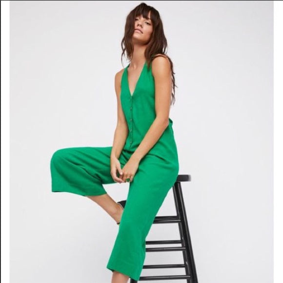 Free People On The Run Jumpsuit Green