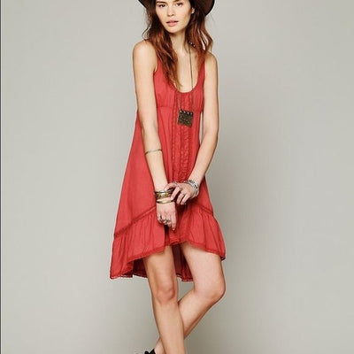 Free People Parisian Slip Lace High Low Dress L