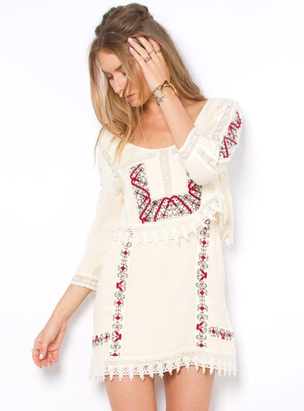 Free People Twice As Nice Dress Lace Beige S