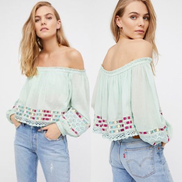 104eaa948495fd Free People Wander Unknown Crochet Crop Top L – White Chocolate Couture