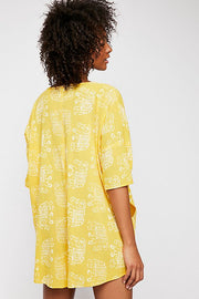Intimately Free People Wear Me Daily Romper Yellow Oversized S