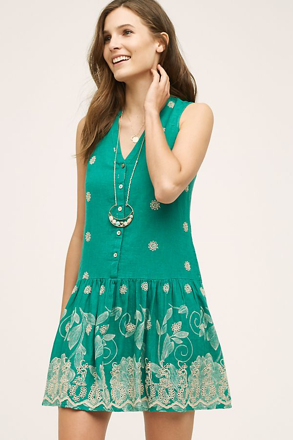 bc4a4118f9e Maeve Anthropologie Pippa Swing Eyelet Green Mini Dress S – White Chocolate  Couture