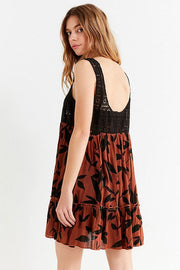 Out From Under Urban Outfitters Thalia Printed Mini Dress M