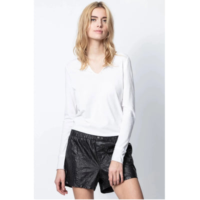 Zadig & Voltaire Tunisien ML Definition Tee T-Shirt Blouse Top XS