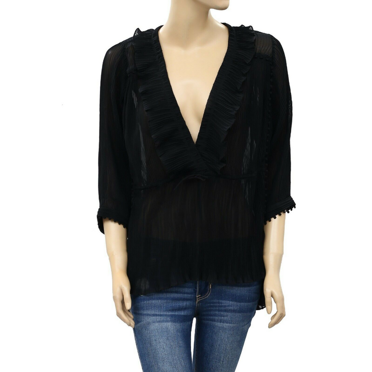 IRO Pleated Blouse Top S 36