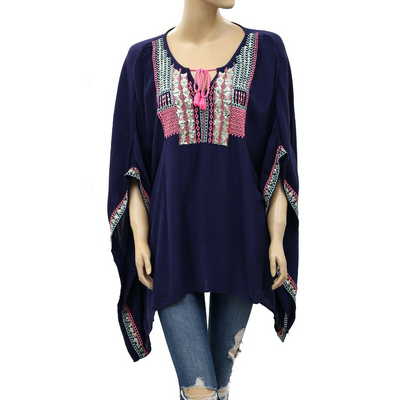 Lilly Pulitzer LUCINDA CAFTAN Embroidered Top M/L
