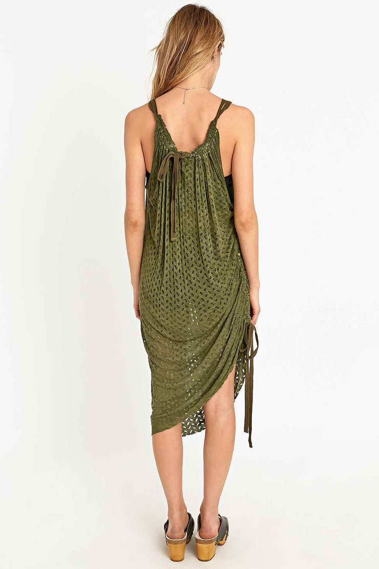 Staring At Star Anthropologie Andree Convertible Cutout Green Dress M