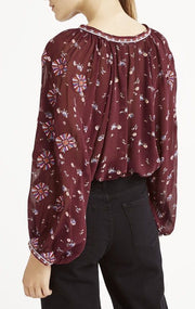 Ulla Johnson Lida Embroidered Floral Top XS 0
