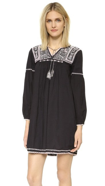 Ulla Johnson Mira Jet Boho Chic Embroidered Dress S 4