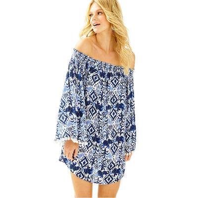 Lilly Pulitzer Nita Off The Shoulder Cover-up Mini Dress XXS