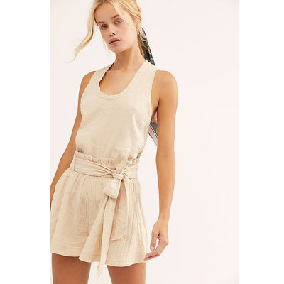 Free People Easy Livin Nude Shorts L